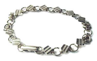 Silver Plated Bracelet with 6mm Pad Settings for Cabochons x1