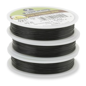 Beadalon Stringing Wire 7 Strands .015 (.38mm) 30 ft/9.2m Black