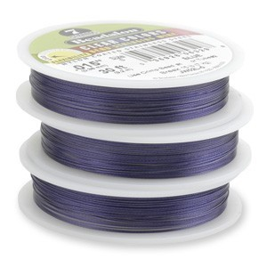 Beadalon Stringing Wire 7 Strands .015 (.38mm) 30 ft/9.2m Blue