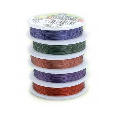 Beadalon Stringing Wire 7 Strands .015 (.38mm) 30 ft/9.2m Mixed Box of x6
