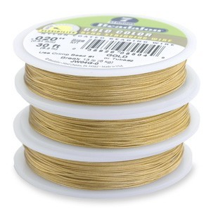 Beadalon Stringing Wire 7 Strands .018 (.46mm) Gold Colour