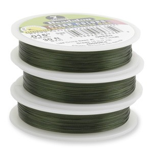 Beadalon Stringing Wire 7 Strands .015 (.38mm) 30 ft/9.2m Green