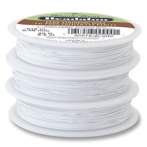 Beadalon Stringing Wire 7 Strands .015 (.38mm) 30 ft/9.2m White
