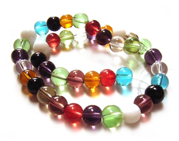 Round Glass Beads 8mm - Soup Mix x41 approx