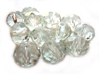 Imperial Crystal Roundelle Beads 8x6mm Crystal Glass Tinted (70pc approx)