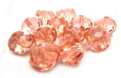 Imperial Crystal Roundelle Beads 8x6mm Rosaline (70pc approx)