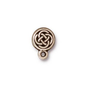 TierraCast Pewter Antiqued Silver Plated Celtic Circle Earring Posts x1pr