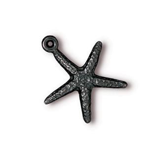 TierraCast Pewter Black 17.6mm Starfish Charm x1
