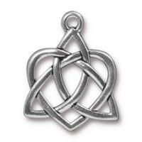 TierraCast Pewter Antique Silver Plated 26.9xx21.2mm Celtic Open Heart Pendant
