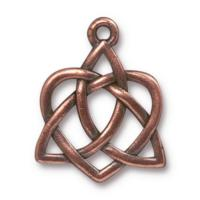 TierraCast Pewter Antique Copper Plated 26.9xx21.2mm Celtic Open Heart Pendant