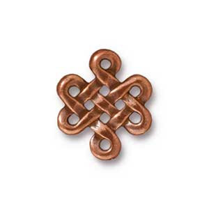 TierraCast Pewter Antique Copper Plated 17.5x15mm Eternity x1