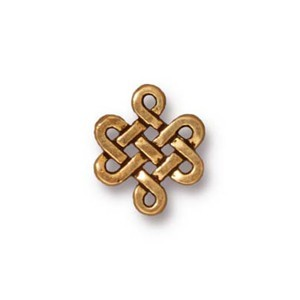 TierraCast Pewter Antique Gold Plated 11x9.5mm Eternity x1