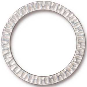 "TierraCast Pewter Bright Rhodium Plated 1 1/4"" - 32mm Radiant Ring Link x1"