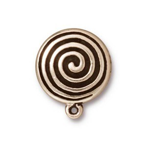 TierraCast Pewter Antiqued Silver Plated Spiral Earring Clips (For Non-Pierced Ears) x1pr
