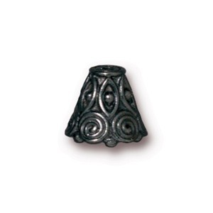 TierraCast Pewter Black Plated Spirals Cone x1