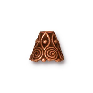 TierraCast Pewter Antique Copper Plated Spirals Cone x1