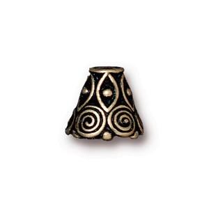 TierraCast Pewter Brass Oxide Plated Spirals Cone x1