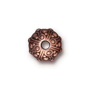 TierraCast Pewter Copper Plated 10x8mm Oasis Bead x1