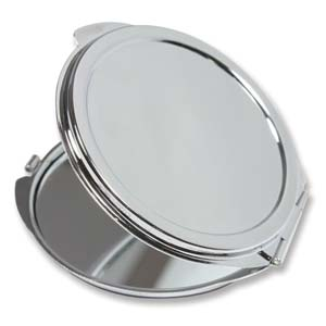 Pocket Mirror Compact Silver Plated - 50mm Setting for Cameo, Cabochon, Resin, Collage or Clay