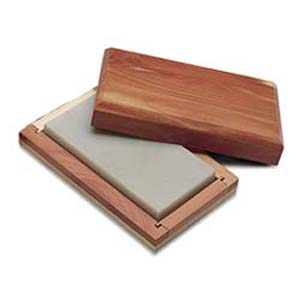 "Arkansas Bench Stone 4x2x1/2"" (Hard) Fine - Cedar Box"