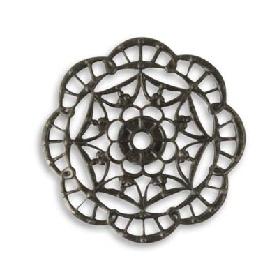 Vintaj Arte Metal 28.5mm Kaleidoscope Filigree x1