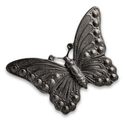 Vintaj Arte Metal 40x30mm Marcasite Butterfly Decorivet x1