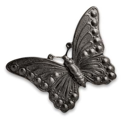 Vintaj Arte Metal 40x30mm Marcasite Butterfly Decorivet x1