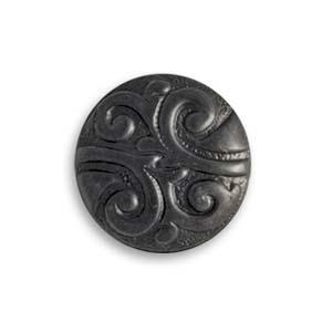 Vintaj Arte Metal 16x7mm Nouveau Button Decorivet