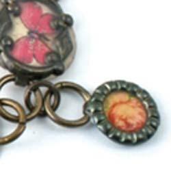 Vintaj Arte Metal 12mm Hobnail Petite Ring Decorivet x1