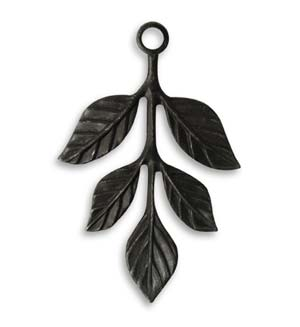 Vintaj Arte Metal 36x23.5mm Tiered Leaves Drop
