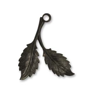 Vintaj Arte Metal 31x22mm Beech Leaves Right Drop