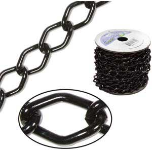 Aluminium Black Chain Link 14.4x9mm x1ft - 30cm