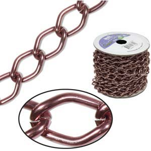 Aluminium Brown Chain Link 14.4x9mm x1ft - 30cm
