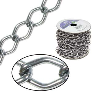 Aluminium Hematite Chain Link 6x3.6mm  x1ft - 30cm