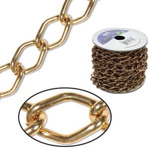 Aluminium Light Copper Chain Link 14.4x9mm x1ft - 30cm