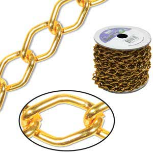 Aluminium Tangerine Chain Link 14.4x9mm x1ft - 30cm