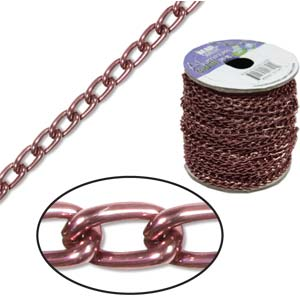 Aluminium Brown Chain Link 6x3.6mm x1ft - 30cm