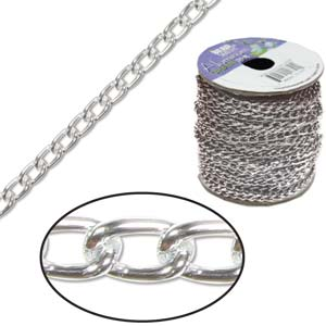 Aluminium Bright Silver Chain Link 6x3.6mm  x1ft - 30cm