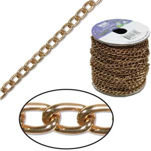 Aluminium Light Copper Chain Link 6x3.6mm  x1ft - 30cm