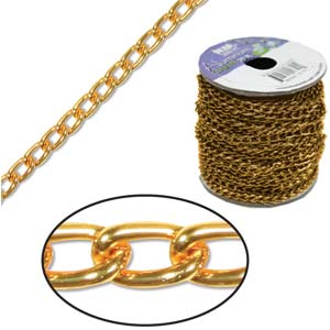 Aluminium Tangerine Chain Link 6x3.6mm  x1ft - 30cm