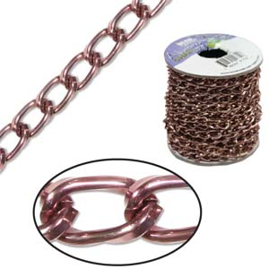Aluminium Brown Chain Link 9.3x5.3mm x1ft - 30cm