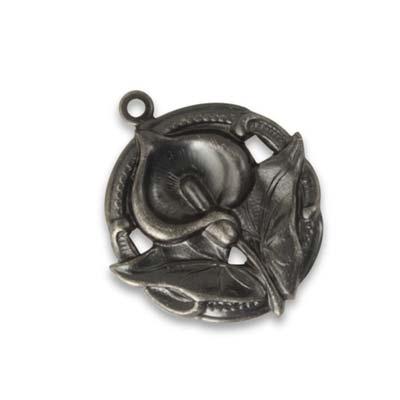 Vintaj Arte Metal 29x24mm Lily Splendour x1