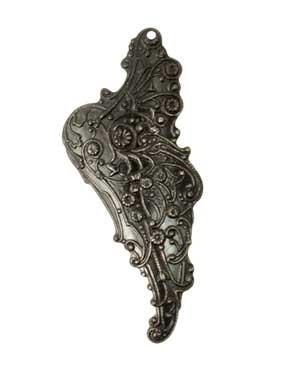 Vintaj Arte Metal 54.5x22mm Mythical Wing Right Pendant