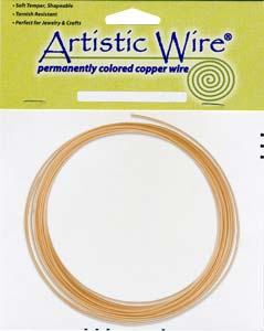 Artistic Wire - 16g Bare Copper per 10 ft Coil (3.05m)