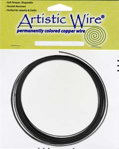 Artistic Wire - 14g Black per 25 ft Coil (7.62m)