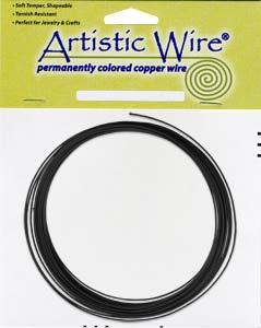Artistic Wire 14ga Black per 10 ft Coil (3.05m)