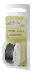 Artistic Wire 18ga Natural Black per 4 yd (3.6m) Dispenser Roll