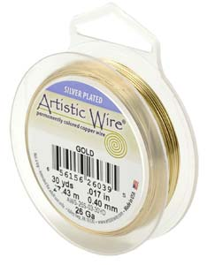Artistic Wire 20ga Non-Tarnish Gold per 25 ft (7.62m) Retail Spool