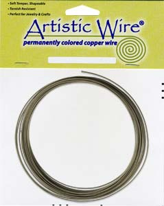 Artistic Wire 14ga Antique Brass (formerly Gunmetal) per 10 ft Coil (3.05m)