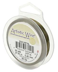 Artistic Wire 26ga Antique Brass (formerly Gunmetal) 30 yd (27.43m) Retail Spool